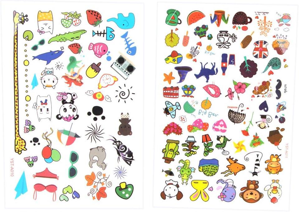 Beyond Dreams Set de 96 Tatuajes de diseño Colorido para niños ...
