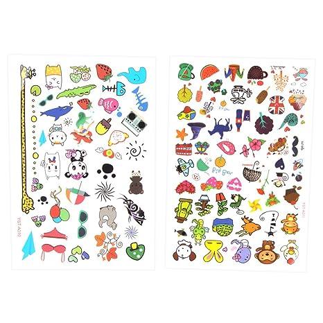 Beyond Dreams Set de 96 Tatuajes de diseño Colorido para niños | Diferentes Motivos para Juegos