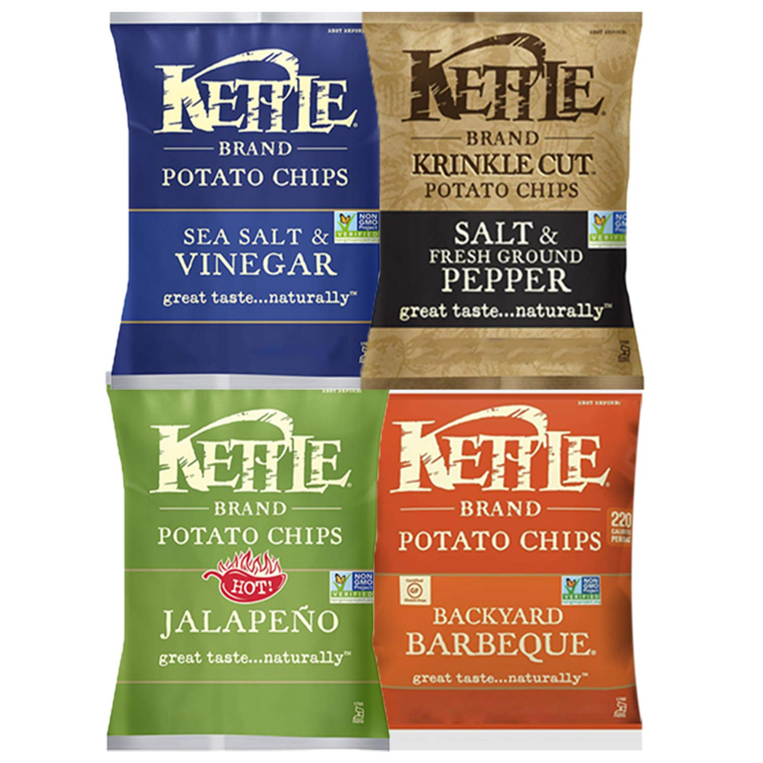 Kettle Brand Potato Chips, Individual Single Serve Bags, Many Different Flavors Sampler Variety Pack (12 Count) by Custom Varietea (Image #4)