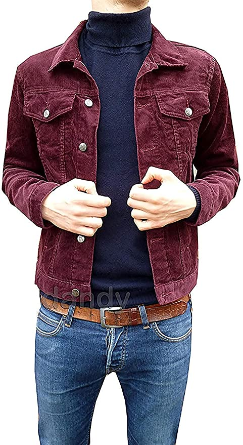 60s 70s Men's Clothing UK | Shirts, Trousers, Shoes Fuzzdandy New Retro Vintage Mens Burgundy Cord Corduroy Western Mod Short Jacket 60s 70s £39.99 AT vintagedancer.com