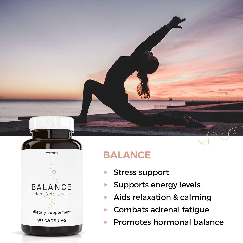 ESTORA Balance Adrenal Stress Support Supplement 90 Vegetable Capsules