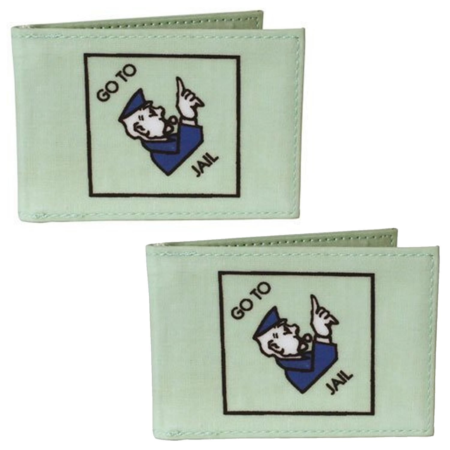 Monopoly Oyster Travel Pass Holder TWO PACK Retro Classic Design Go to Jail/Just Visiting and Pass Go/Free Parking Mens or Womens Waterproof Card Holder Wallets for Railcards, Bus Passes or Student ID