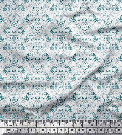 Soimoi Azul Georgette poli Tela Textura tela de camisa tela ...