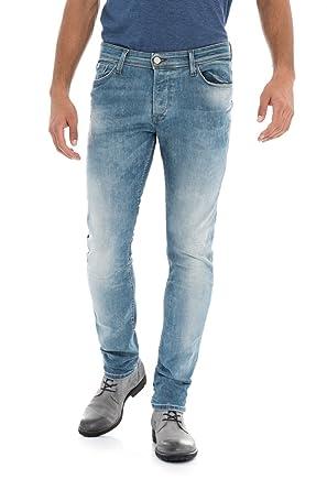 b4a2ce10a6a08 Salsa - Jeans Slim Carrot - Premium Wash - Homme - Bleu: Amazon.fr ...