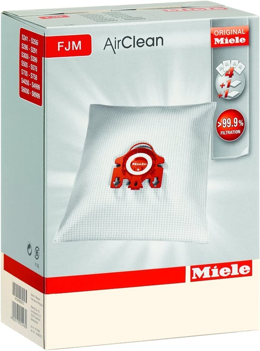 2 X Miele Type FJM Replacement Filter Bags For Cylinder Series