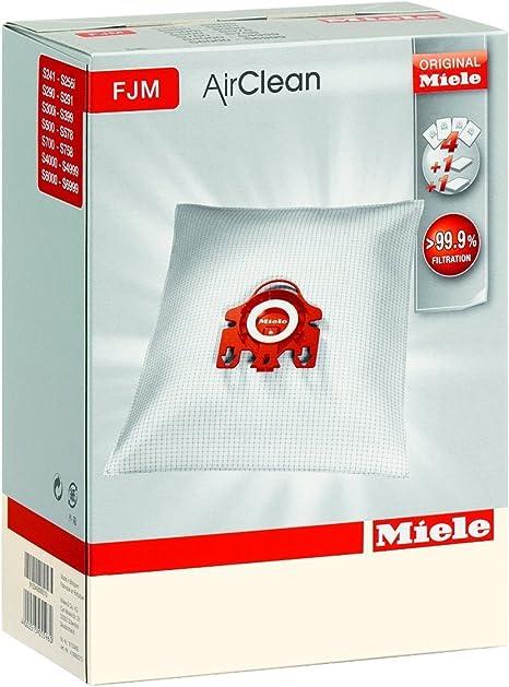 2 Bolsas de recambio para filtro de aspiradoras, Miele FJM, para serie con cilindro: Amazon.es: Hogar