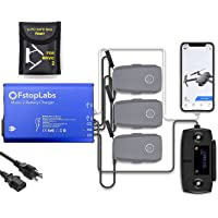 Fstop Labs Mavic 2 Battery Charger, Accessories for DJI Mavic 2 Pro Zoom, 5 in 1 Rapid Parallel Battery Charging Hub Station, 3 Batteries, 2 USB Ports, with Power On Off Switch