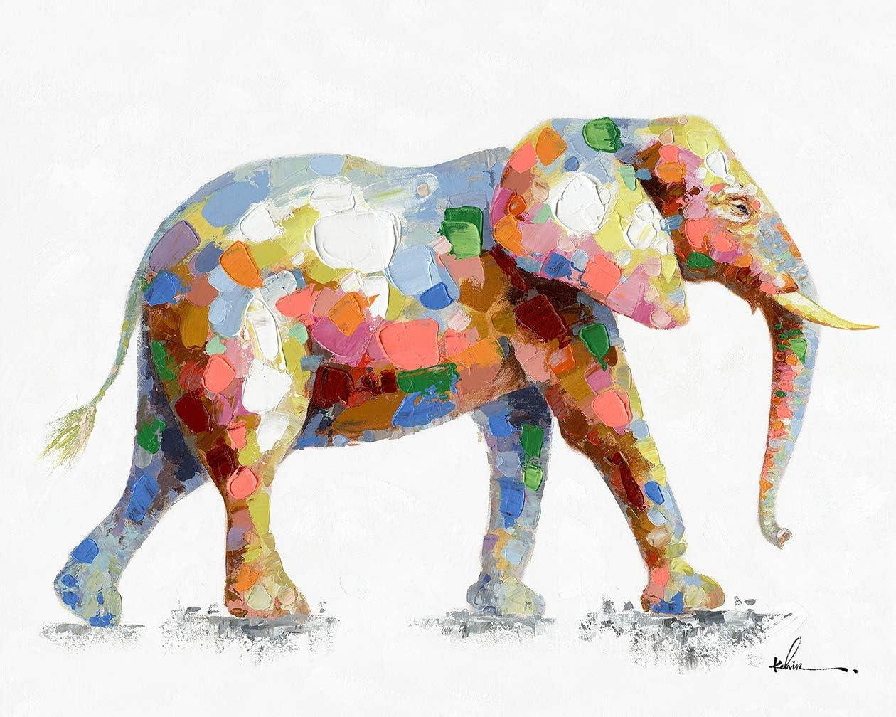 - Amazon.com: Colorful Elephant Wall Art Modern Printing On Canvas