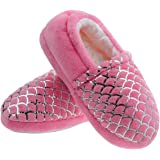 shoeslocker Boys Girls Slippers Little Kids Warm Plush Slippers