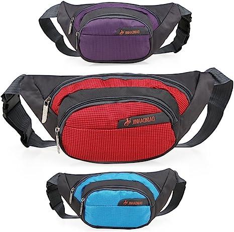 Riñonera Running Cinturón Deportivo Hombre Mujer universal teléfono móvil bolsa riñonera para Smartphone Pasaporte Tarjetas, bright rosy red: Amazon.es: Deportes y aire libre