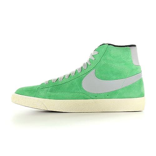 check out d5685 80a71 Nike Blazer Mid Premium Vintage Suede - Zapatillas de Piel para Hombre  Verde Verde Gris, Color, Talla 46 EU  Amazon.es  Zapatos y complementos