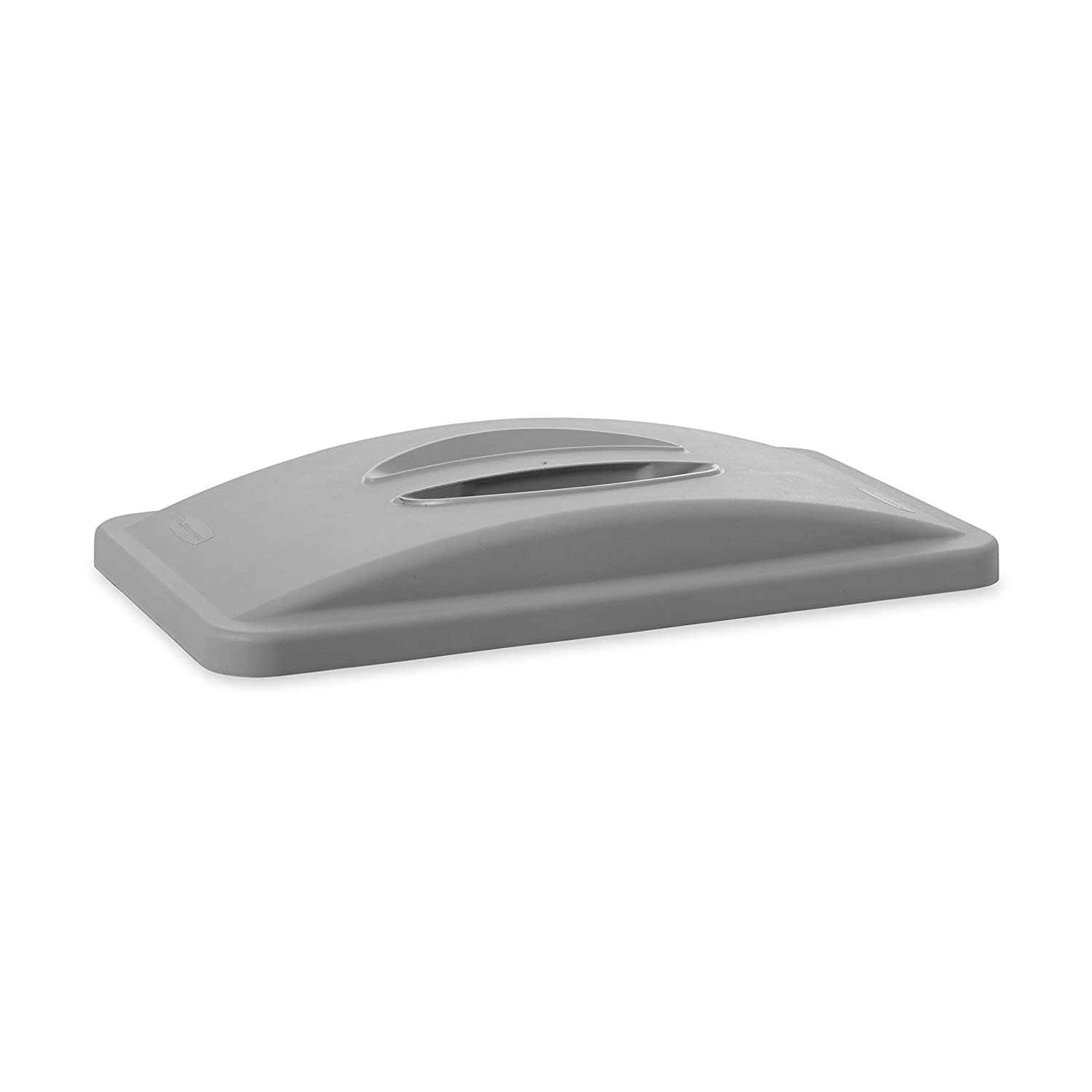 Rubbermaid Commercial 268888GY Slim Jim Waste Container Handle Top, 20 3/8w x 11 3/8d x 2 3/4h, Plastic, Light Gray