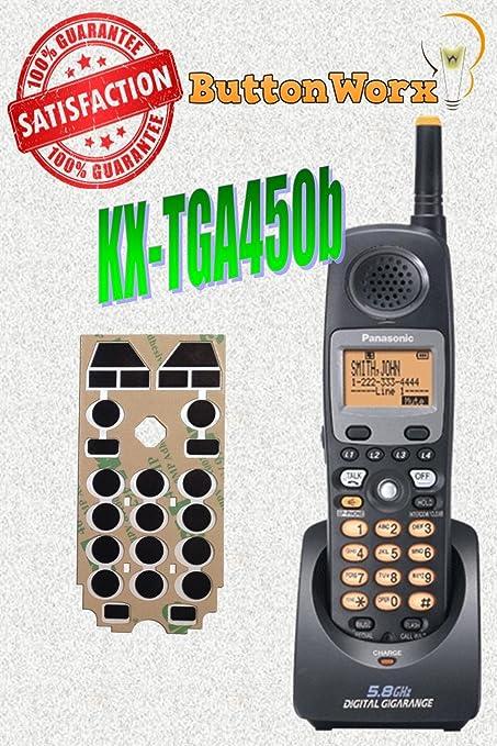buttonworx KX-TGA450B Kit de reparación de botón para PANASONIC teléfono inalámbrico: Amazon.es: Oficina y papelería