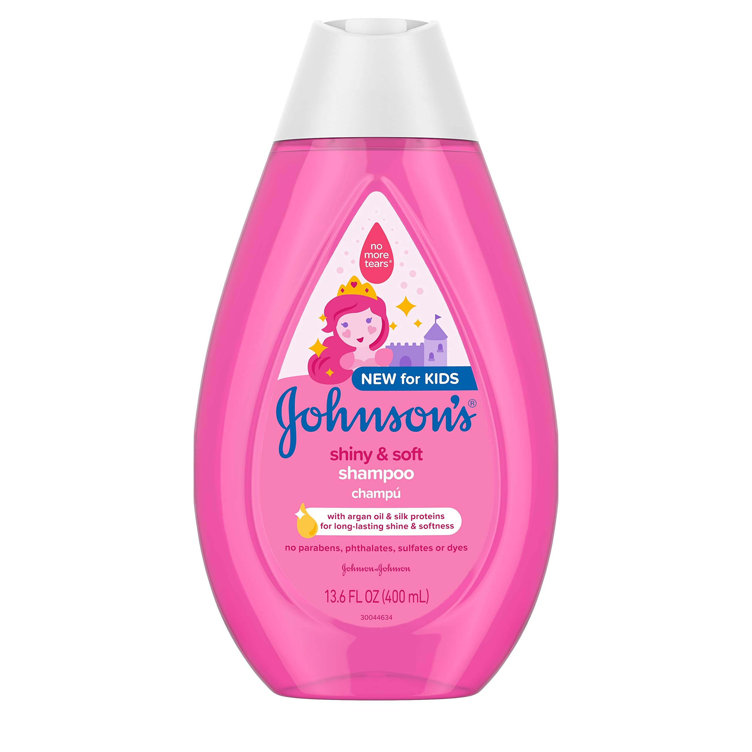 Johnson's Baby Shiny Soft TearFree Kids' Shampoo with Argan Oil Silk Proteins Paraben Sulfate DyeFree Formula…