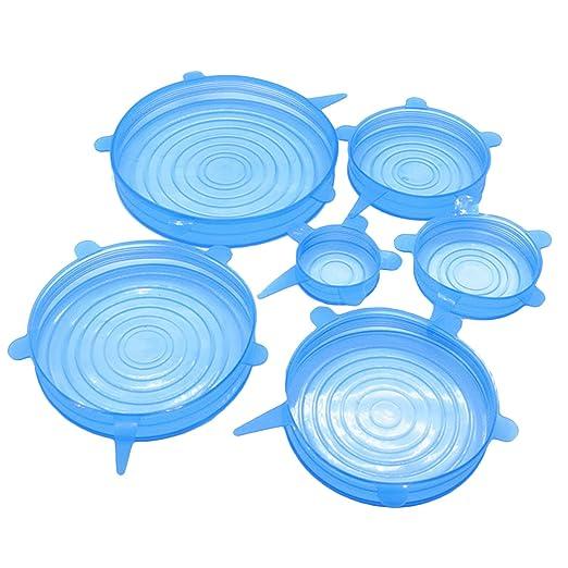 gosear 6stk Multi Tamaño silicona Stretch erhalten comer Pot Bowl ...