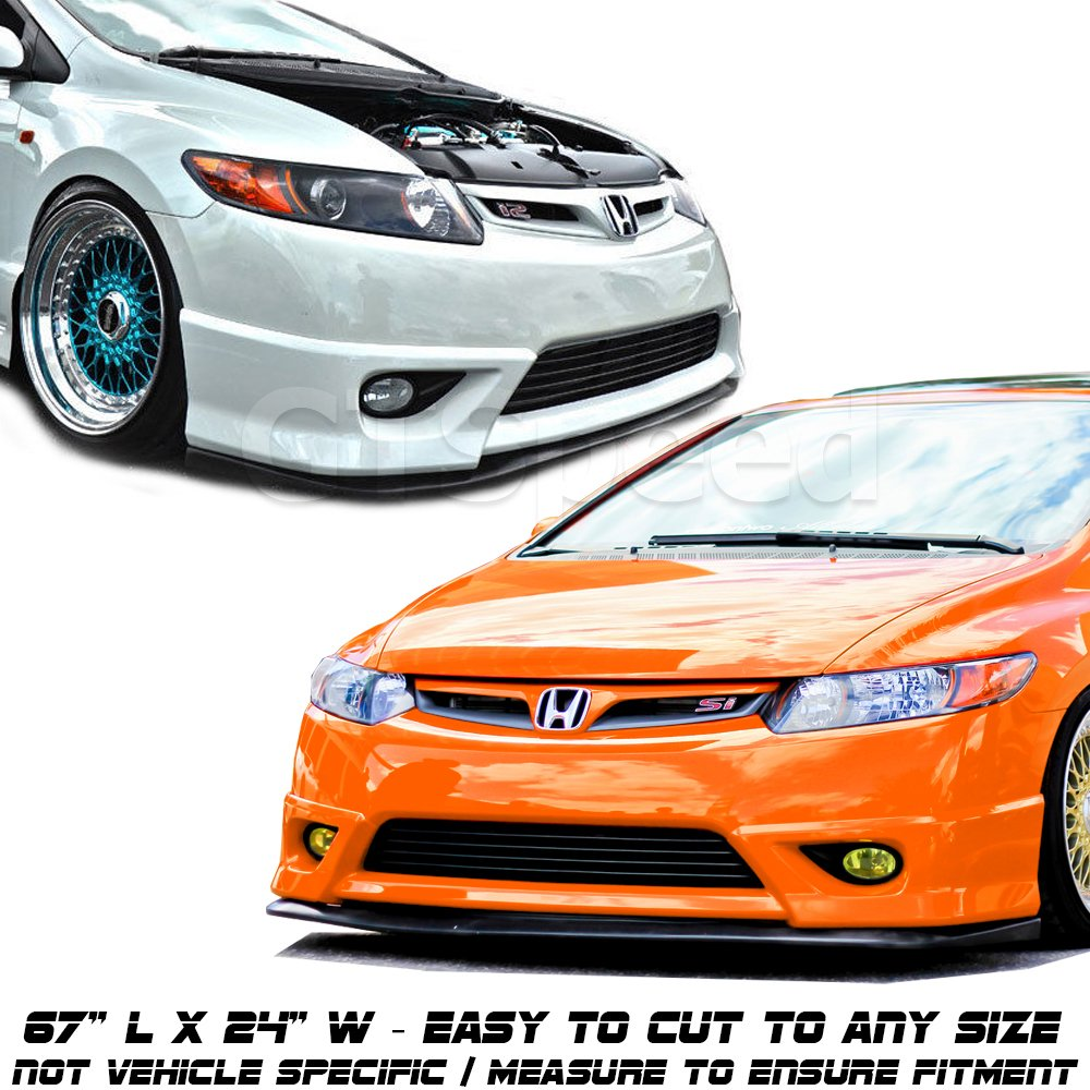 GT-Speed Made Universal Fit CS Style PU Front Bumper Add on Lip Flat Splitter Plate Under Panel