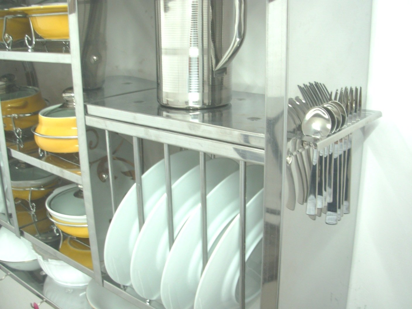 RBJ Huge Stainless Steel Kitchen Plate Rack Dish Drainer 76X24X107 ...
