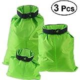 ueetek 3pcs 1,5L + 2,5L + 3,5L impermeabile Sacco borsa di stoccaggio per campeggio canottaggio kayak Rafting pesca