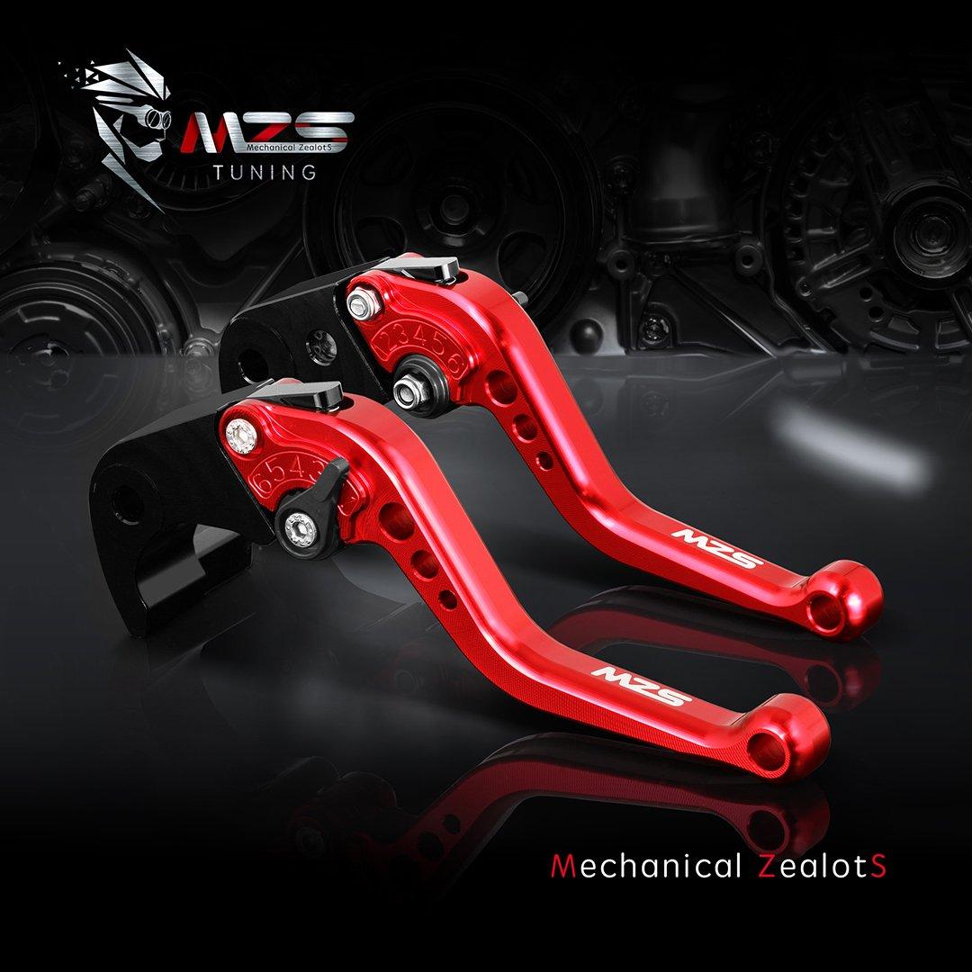 FZ-09//MT-09//SR MZS CNC Brake Clutch Levers Set Short Compatible Yamaha MT-07//FZ-07 2014-2019 2014-2019 not FJ-09 Tracer 700 2016-2017 Red