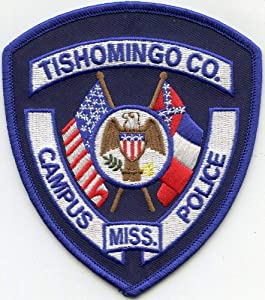Shoulder Patches for Man & Woman Tishomingo County Mississippi MS School District Campus Sheriff Police Patch