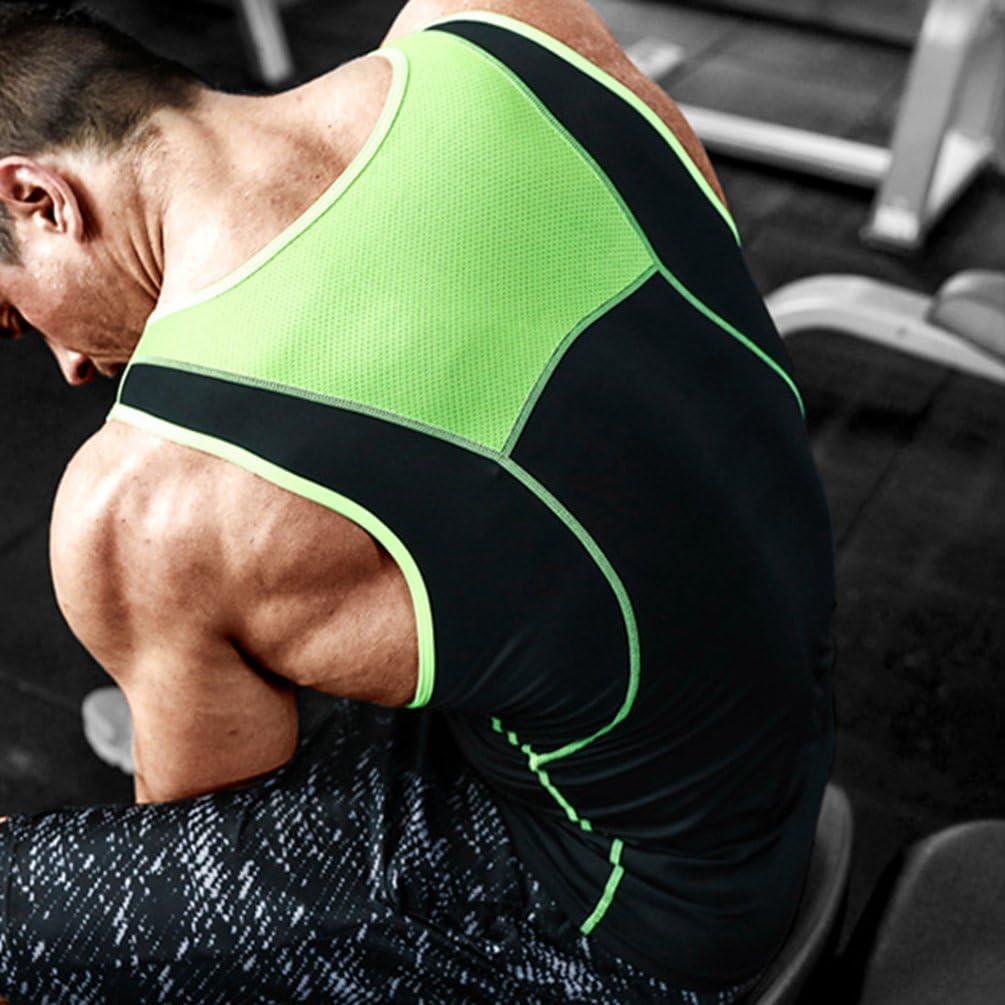 Tookang Homme Stretch D/ébardeur de Sport de Running T-Shirt Gilet sans Manches pour Fitness Gym Bodybuilding Tank Top