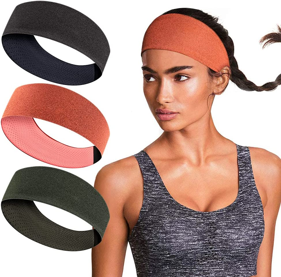 Details about  /Running Sweatband Casual Elastic Yoga Stretch Outdoor Sports Headband Fitness