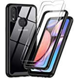 LeYi Compatible with Samsung Galaxy A10S Case, Galaxy A10S Case with 2 Tempered Glass Screen Protector, Full-Body Protective