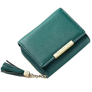 53967406b848 XMeng レディース 財布 三つ折り財布 大容量 小銭入れ付 小型 軽量 人気 RFID&磁気