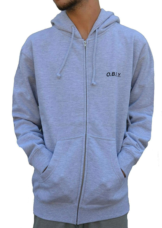 O.B.E.Y. Chaqueta Zip Man Grey: Amazon.es: Ropa y accesorios