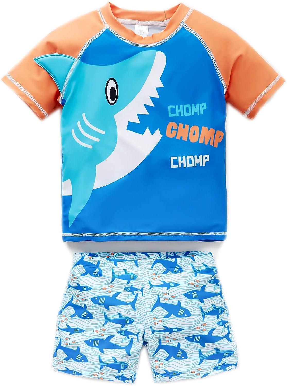 KAVKAS Baby Girl and Boy Swimsuit One Piece Rash Guard Swimwears 12M-8T