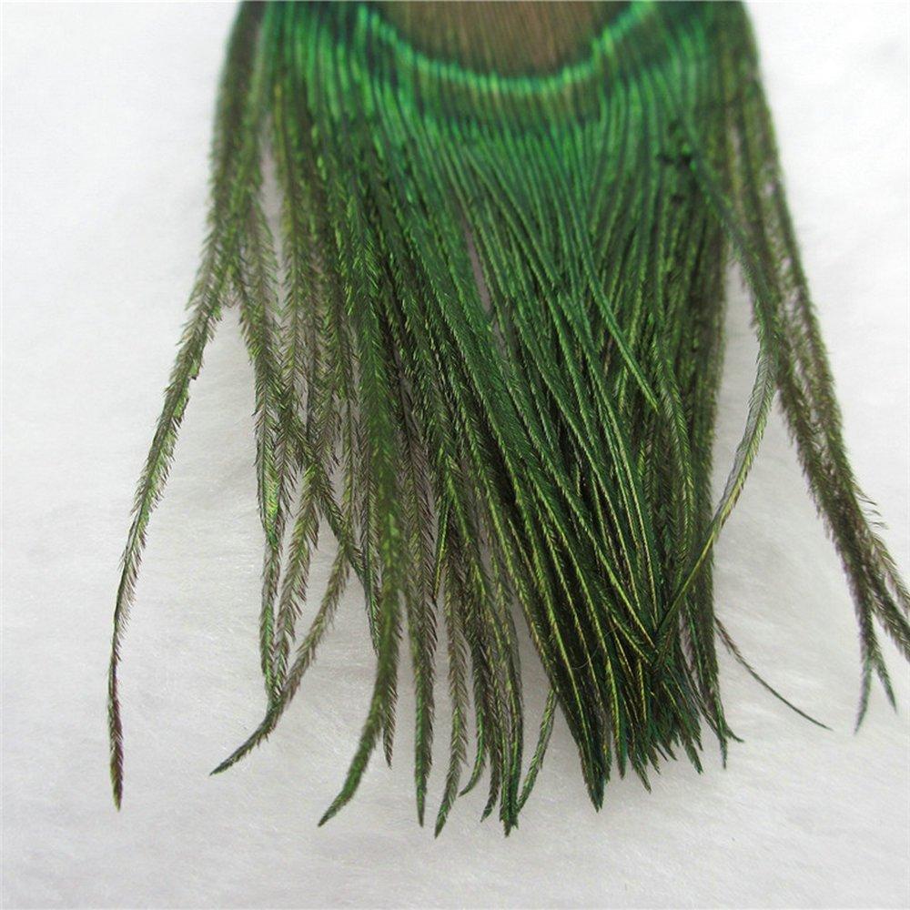 Handmade Fashion Peacock feather earrings Bohemian Natural Drop Dangle Earrings