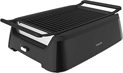 Philips Kitchen Appliances HD6371/94 Philips Smoke-less Indoor BBQ Grill, Avance Collection, 5, Black