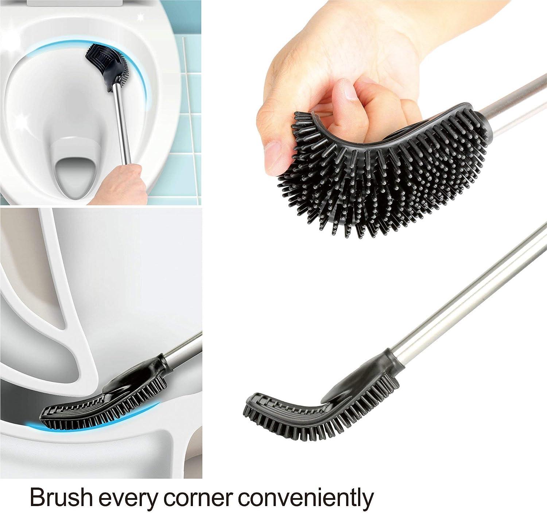VENETIO Bidet Sprayer Kit /& Toilet Bowl Brush and Holder Silver