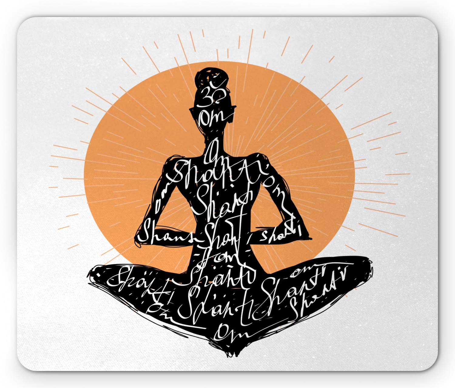 Amazon.com : Ambesonne Yoga Mouse Pad, Silhouette of a Yoga ...
