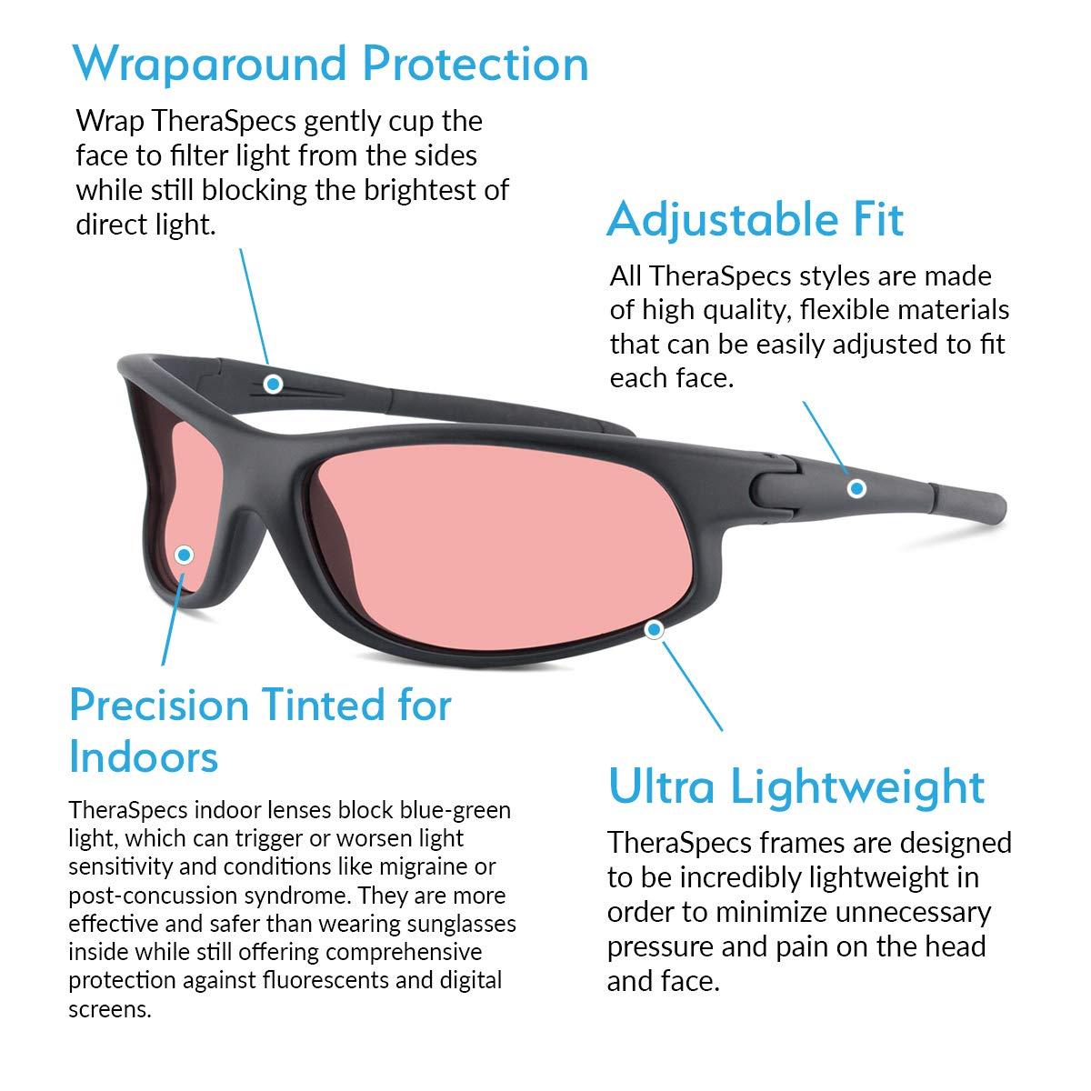 9f468b53a984d Amazon.com  TheraSpecs Wrap Migraine Glasses for Light Sensitivity ...