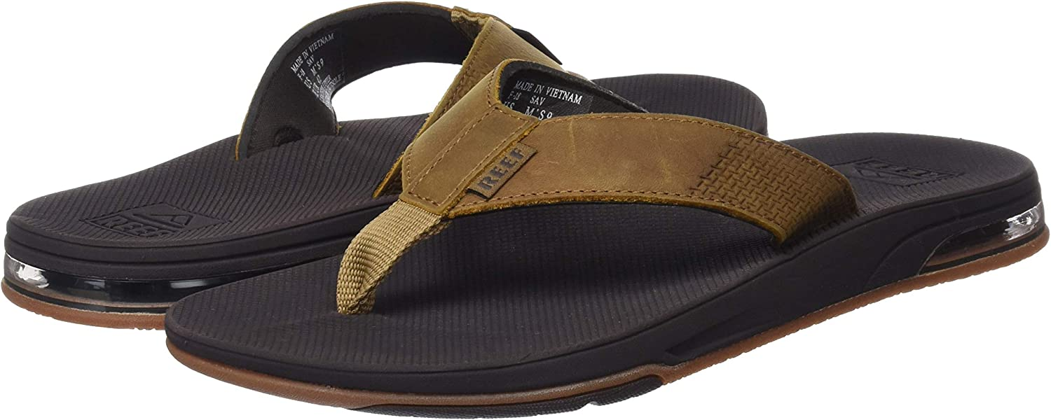 Tongs Homme Reef Leather Fanning Low