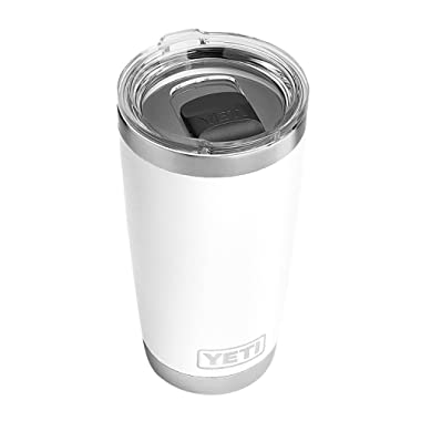 YETI 20oz White w/Ms Lid Rambler, 1 Each