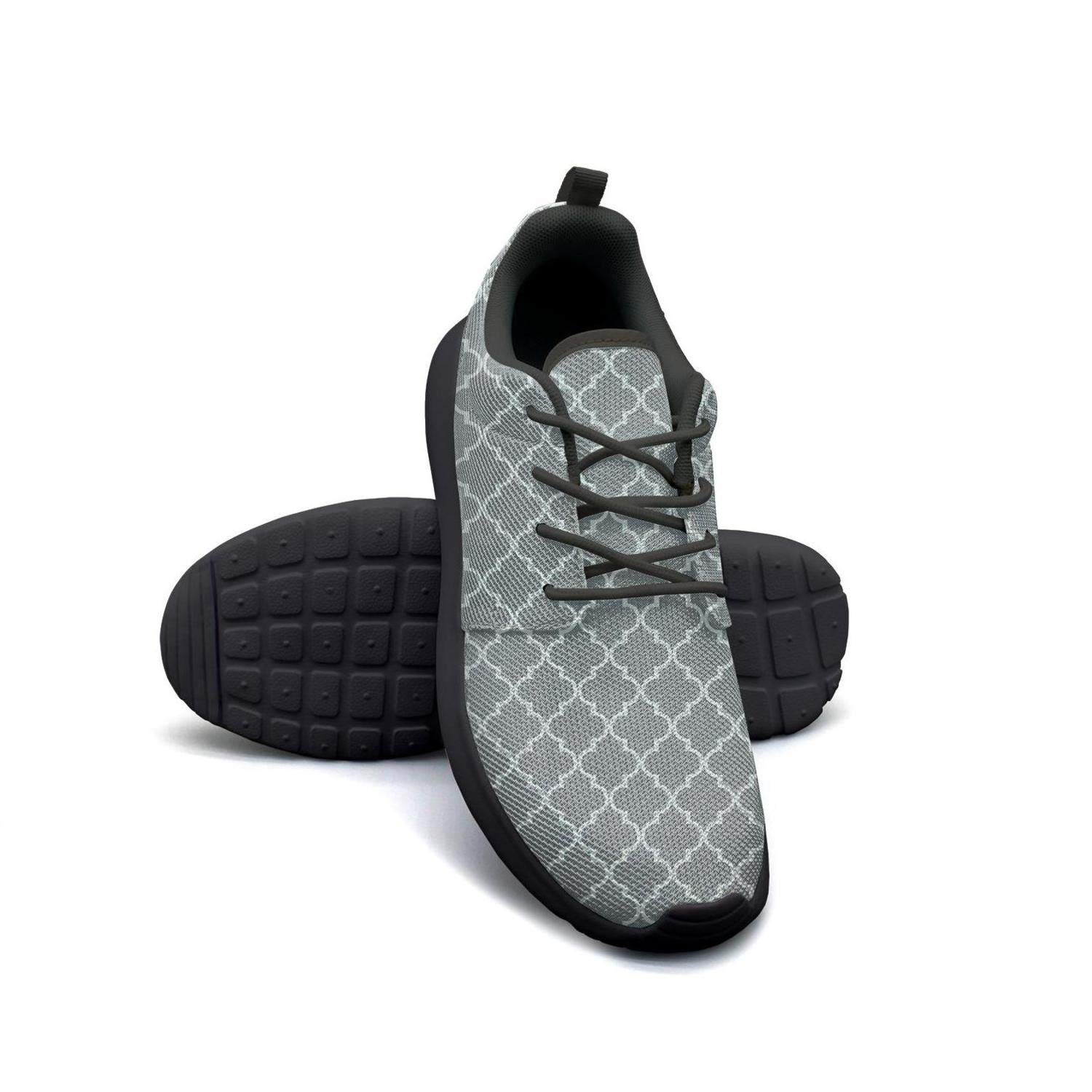 LOKIJM Texture Stripe Gray Sneaker Shoes for Women Spring Comfortable and Lightweight On Running Shoes