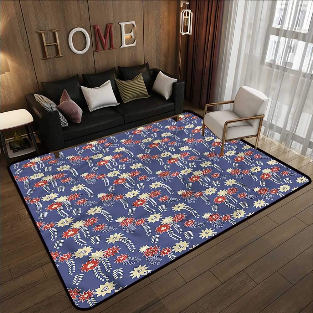 """Japanese,Kitchen Carpet 60\""""x 96\"""" Spring Flowers Ornamental Outdoor Rugs for patios 71DX7zqEtuL._SL1000_"""