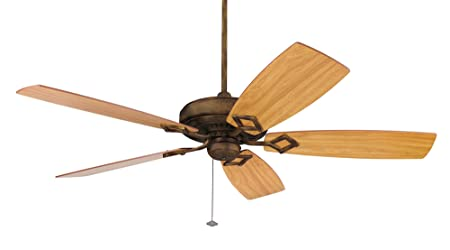 Fanimation TF700TS Edgewood Deluxe Ceiling Fan, Tortoise Shell Finish, 5 Reversible Walnut Light Walnut Blades