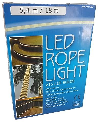 Everstar 54m warm white led rope light amazon lighting everstar 54m warm white led rope light aloadofball Gallery