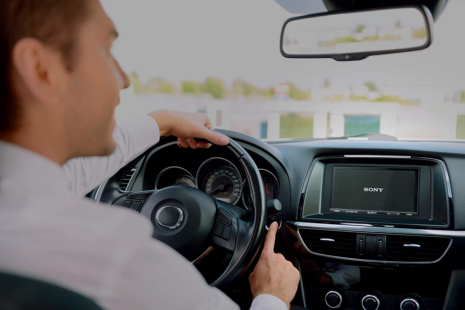 """Android Auto Media Receiver with Bluetooth and WebLink Compatible Sony XAVAX5500 6.95 7/"""" Apple Car Play"""
