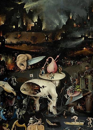 Hieronymus Bosch el jardín de las delicias, detalle C1480 – 1505. 250 gsm brillante Art Tarjeta A3 reproducción de póster: Amazon.es: Hogar
