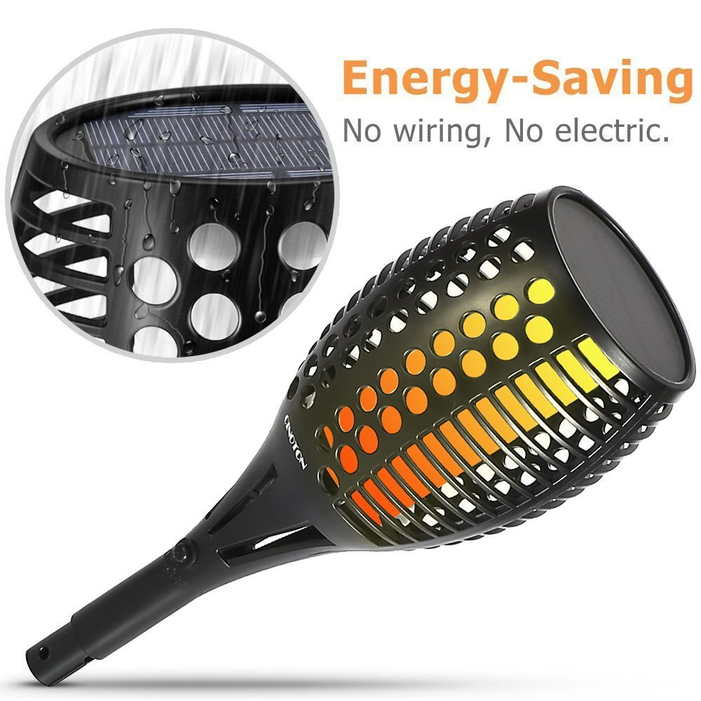 Amazon.com: YTJSFH Solar Light,Path Torches Dancing Flame Lighting 96 LED Dusk to Dawn Flickering Torches Outdoor Waterproof Garden Decorations 2pack: Home ...