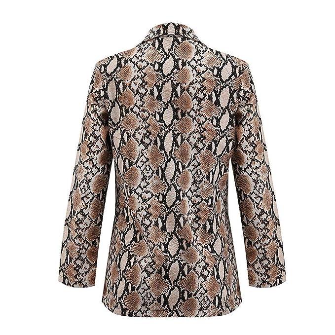 Amazon.com: Women Snake Print Light Weight Suit Coat Blazer ...