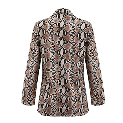 Amazon.com: Womens Coat, Women Snake Print Long Sleeve Suit ...
