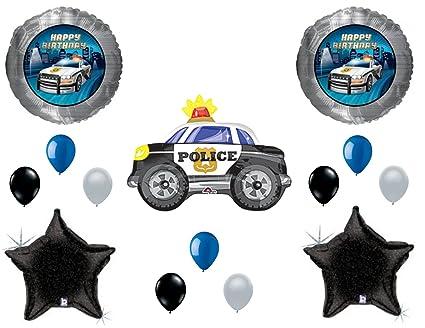 Amazon.com: Agente de Policía Coche Cumpleaños Globos ...