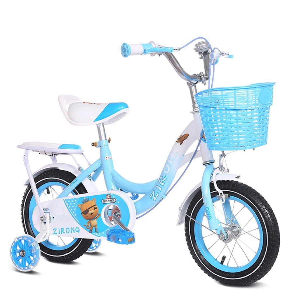 子供用自転車2-6-7-8-9-10歳の男の子と女の子自転車アウトドアベイビーマウンテンバイク (色 : 青, サイズ さいず : 16 inches) B07DBW35F3 16 inches 青 青 16 inches