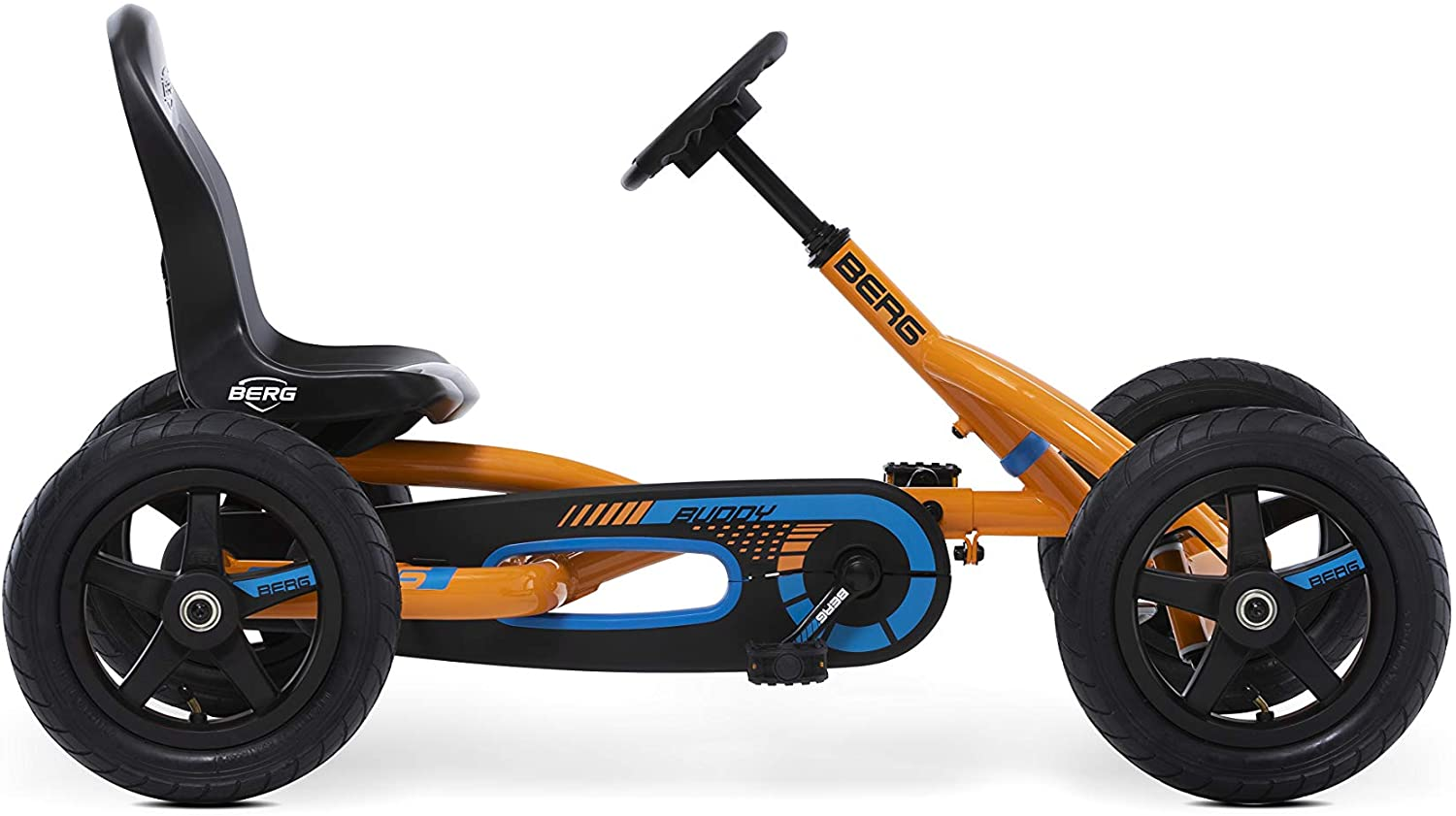 Berg Pedal Car Buddy B-Orange | Pedal Go Kart, Ride On Toys for Boys and Girls, Go Kart, Outdoor Games and Outdoor Toys, Adaptable to Body Lenght, Pedal Cart, Go Cart for Ages 3-8 Years