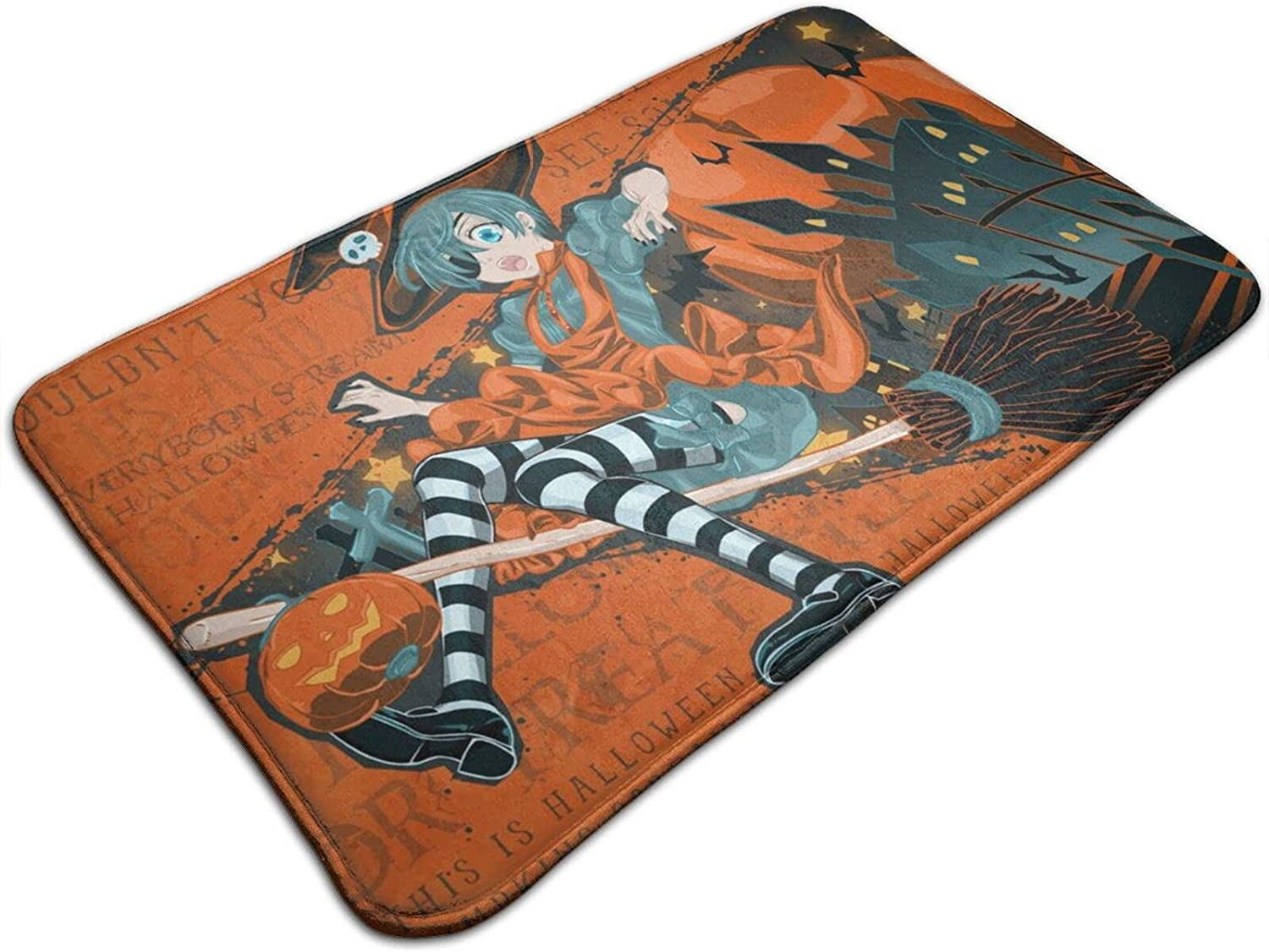Classic Awesome Black Butler Halloween Wizard Premium Fashionable Durable Non Skid Doormats No Fade Multifunctional Floor Mat for Office Living Room Patio Kitchen Tub Decoration 19.5x31.5 Inch